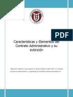 Elementos Del Contrato Administrativo y Su Extinción