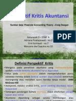 Akuntansi Kritis-Teori Akuntansi
