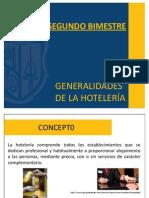 Generalidades de La Hoteleria