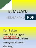 Kesalahan Struktur Ayat