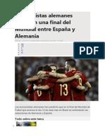 Economistas alemanes predicen una final del Mundial entre España y Alemania.docx