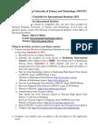 Admission Checklist 2013