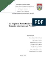 El Régimen de Bienes en El Derecho Internacional Privado