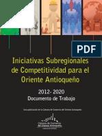 Iniciativas Subregionales de Competitividad Para El Oriente Antioqueño