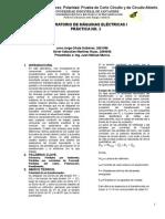 Informe - PRÁCTICA No. 2. Transformadores. Polaridad. Prueba COCI y CKTO ABTO.
