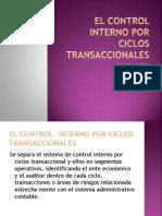El Control Interno Por Ciclos Transaccionales
