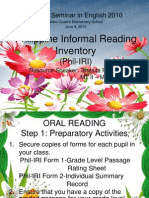 Philippine Informal Reading Inventory