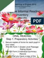 Philippine Informal Reading Inventory