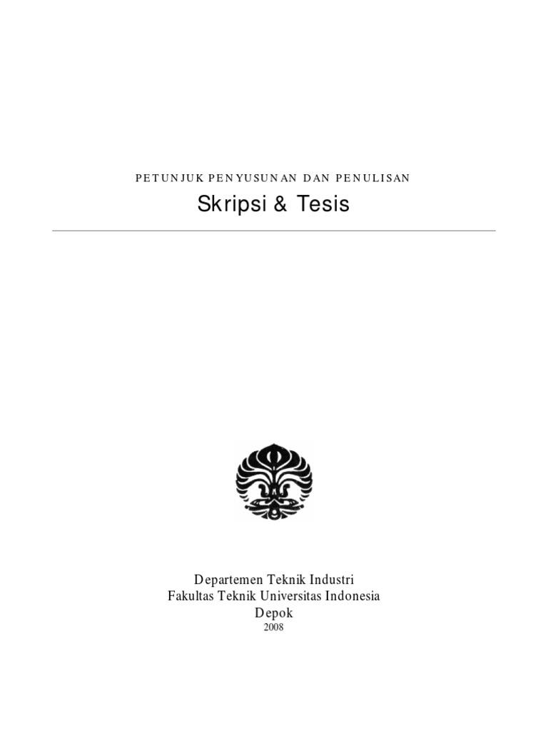 Teknik Penyusunan Skripsi Teknik Industri Ui