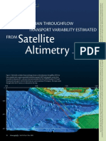 Indonesian Throughflow Transport Variability Estimated from Satellite Altimetry