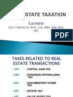 Real Estate Taxation