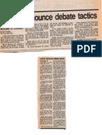 Greens Denounce Debate Tactics