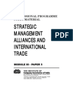 Strategic Management, Alliances and International Trade