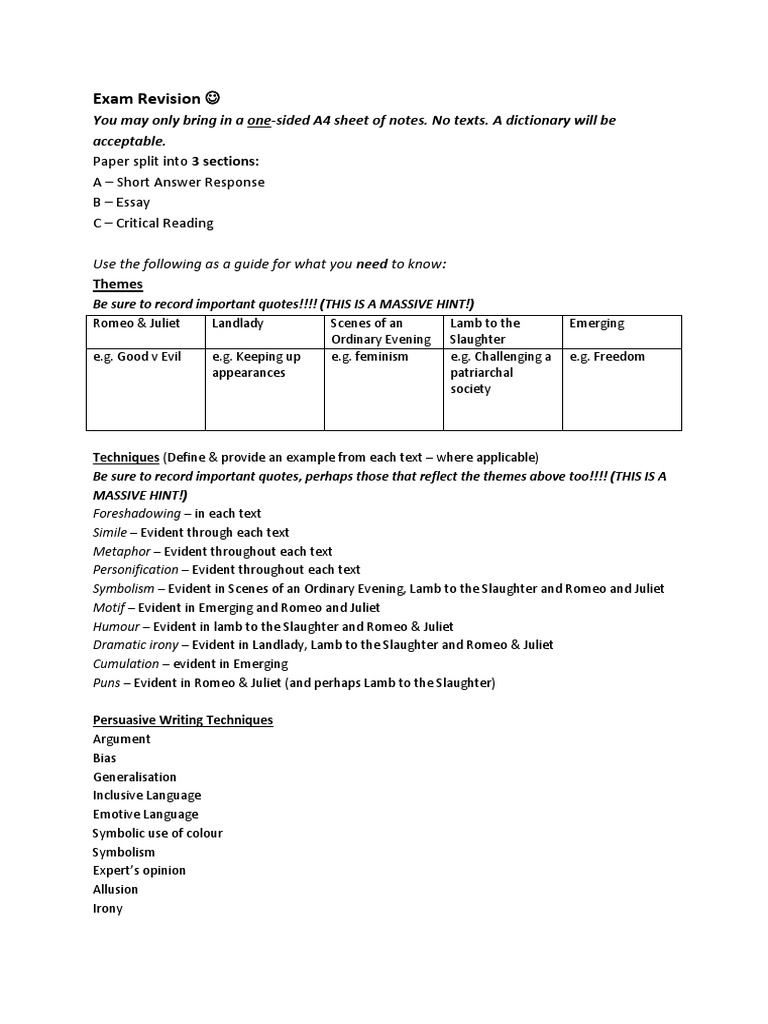 Argumentive Essay Outline  Racism Essays also An Essay On Importance Of Education Exam Revision Sem   Romeo And Juliet  Essays Examples Of Good Descriptive Essays