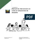 Manual de Intervencion en Crisis y Situaciones de Desastre