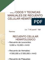 Metodos y Tecnicas Manuales de Recuento Celular Hematologico