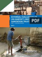 External Evaluation of UN-HABITAT's Water and Sanitation Trust Fund - Part 1