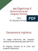 7a clase - 2013 - Características del Lenguaje Humano.pdf