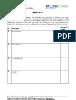Studeo Rechentest für Klausuren - Unterlagen Mathe 1036
