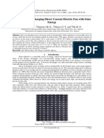 Actualization of Charging Direct Current Electric Fan with Solar Energy