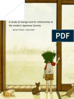 a Study of Manga and Its Relationship to the Modern Japanese Society