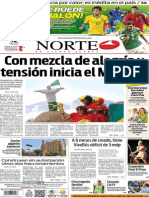 Periódico Norte edición impresa del día 12 de junio del 2014