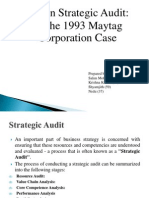 Written Strategic Audit