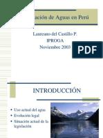 Legislacion Agua en El Peru PowerPoint