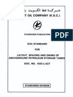 Standard for Layout, Spacing and Diking of Aboveground Petroleum Storage Tanks