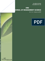 IIMS Journal of Management Science