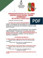 PreinscripciónTalleresCentroSocial 2014-2015