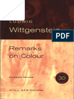 Ludwig Wittgenstein Remarks on Colour