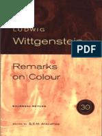 Ludwig Wittgenstein Remarks on Colour