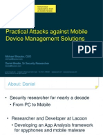 A Practical Attack Against MDM Solutions Slides