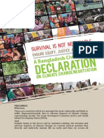 Bangladesh Civil Society Declaration on Climate Change