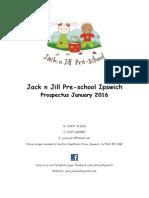 Jack n Jill Pre-school Ipswich Prospectus 2016