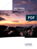 ALSTOM - Geothermal Power Solutions