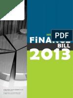 Finance Bill Highlights 2013