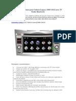 Navigation Voiture Pour Subaru Legacy 2009 2010 Avec TV Radio Bluetooth