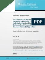 Rodríguez, B. M. 2013. Una Justicia Corporativa Saberes, Prácticas y Estrategias