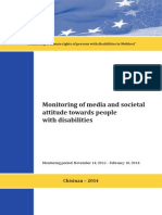 Monitoring of media and societal attitude towards people with disabilities