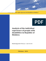Analysis of individual experience of people with disabilities in Republic of Moldova