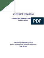 Benoît d'Aiguillon - La Publicite Subliminale... Audiovisuelle
