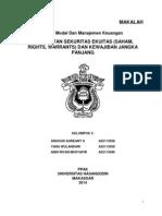 Makalah Kelompok 3 Penerbitan Sekuritas Ekuitas (Saham, Rights, Warrants) Dan Kewajiban Jangka Panjang