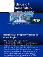 Ethics of Scholarship and Publishing by Atty Vyva Victoria Aguirre