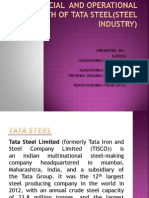 financial and operational health of tata steel