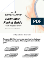 Li Ning Badminton Racket Guide