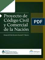 Proyecto de Codigo Civil y Comercial de La Nacion