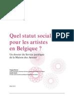 Le statut social ses artistes Belges