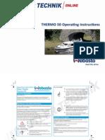 Webasto Thermo 50 Operating Instructions